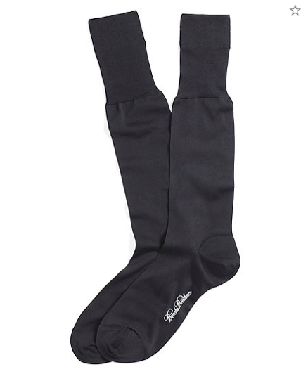 black silk dress socks