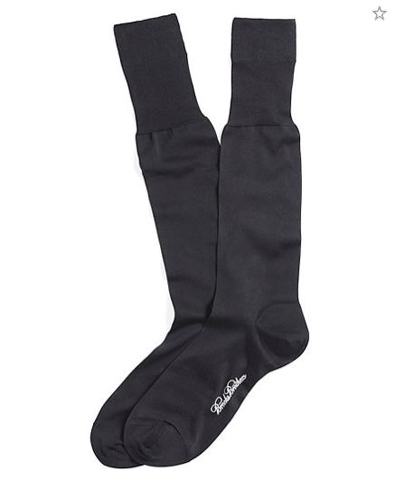 black silk dress socks