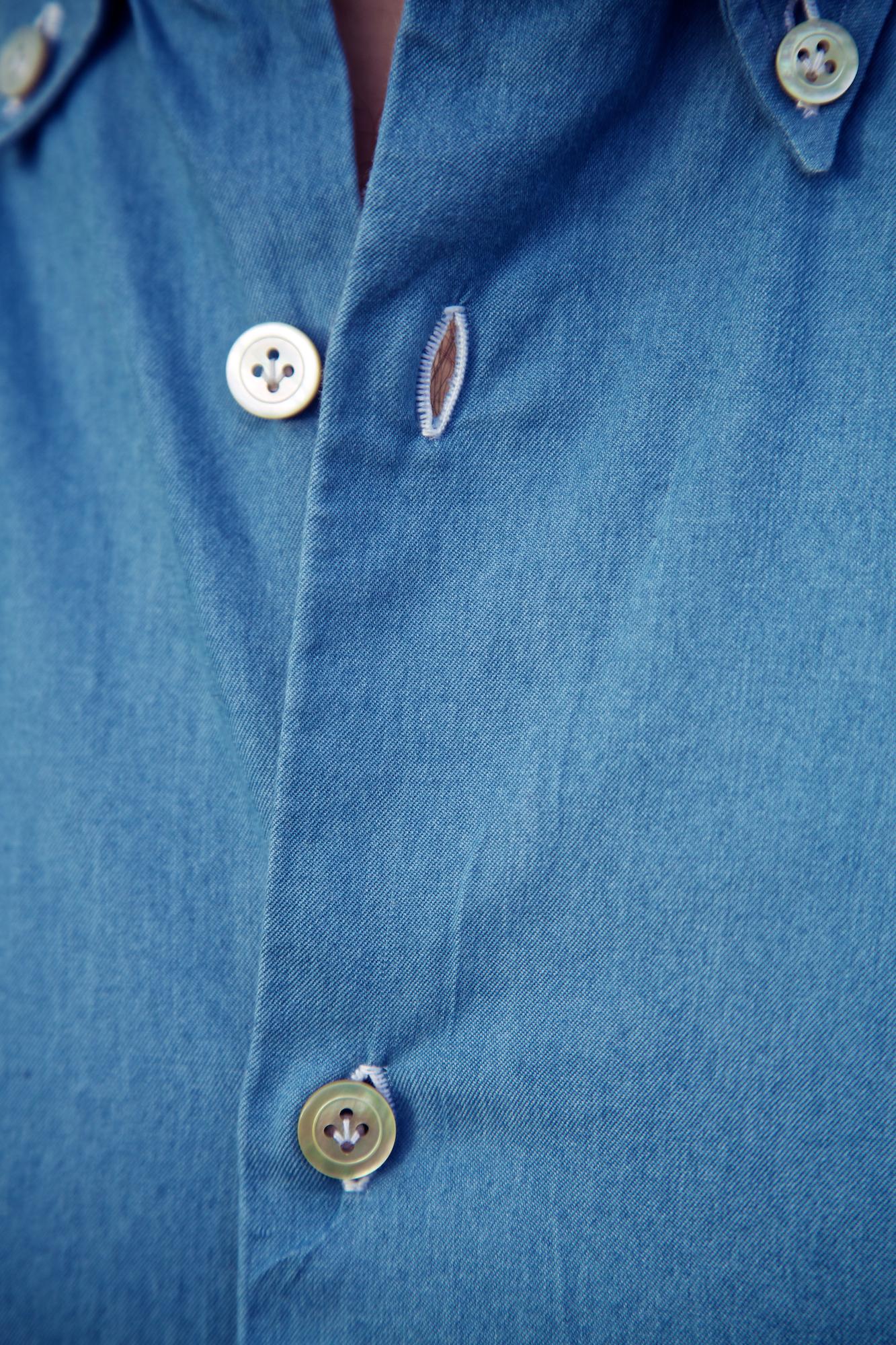 D'Avino bespoke denim shirt