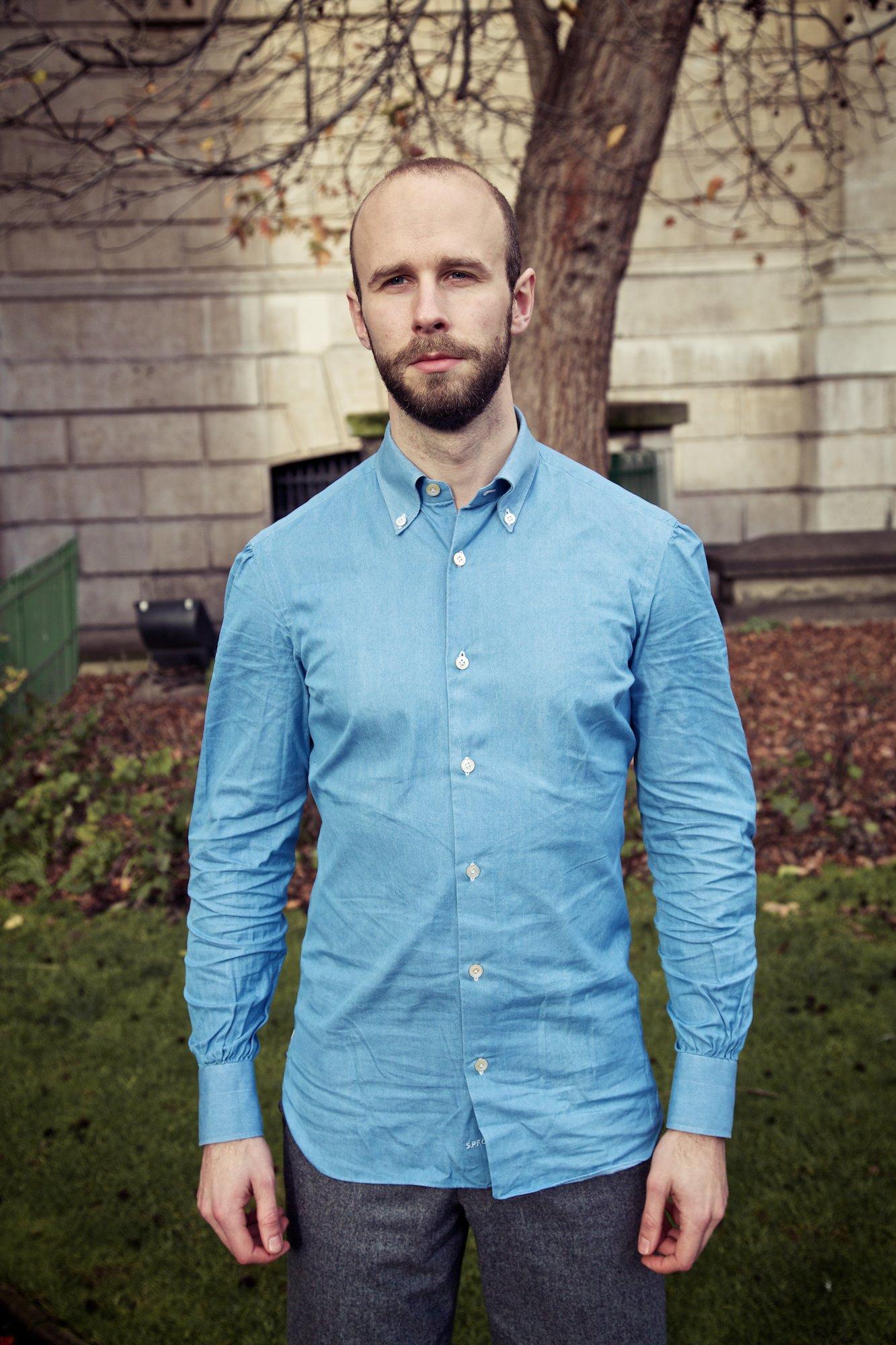 D'Avino bespoke denim shirt – Permanent Style