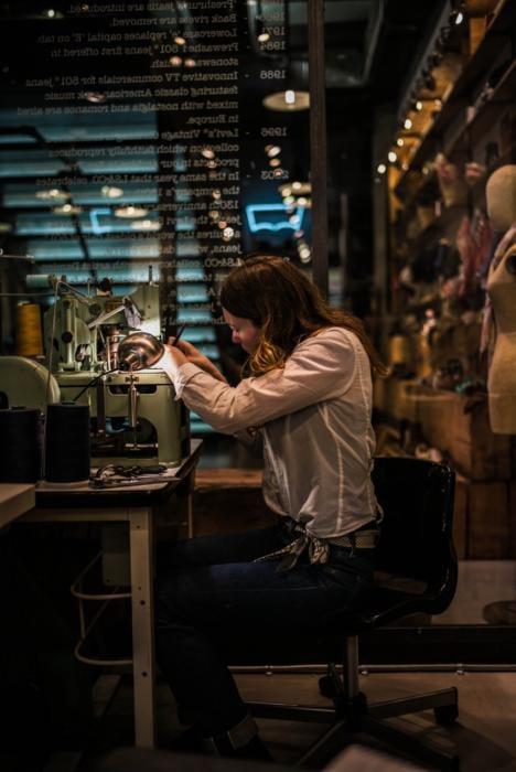 lizzie radcliffe Levi's bespoke jeans