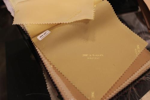 Kiton suit linings