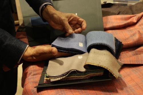 Kiton suit materials