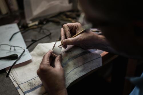 Asprey silver engraving