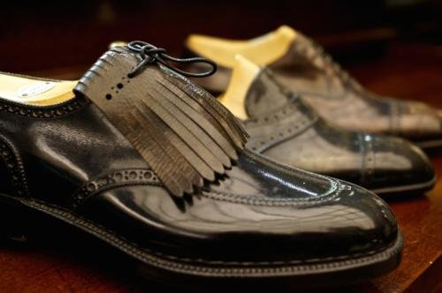 Foster's bespoke shoes black