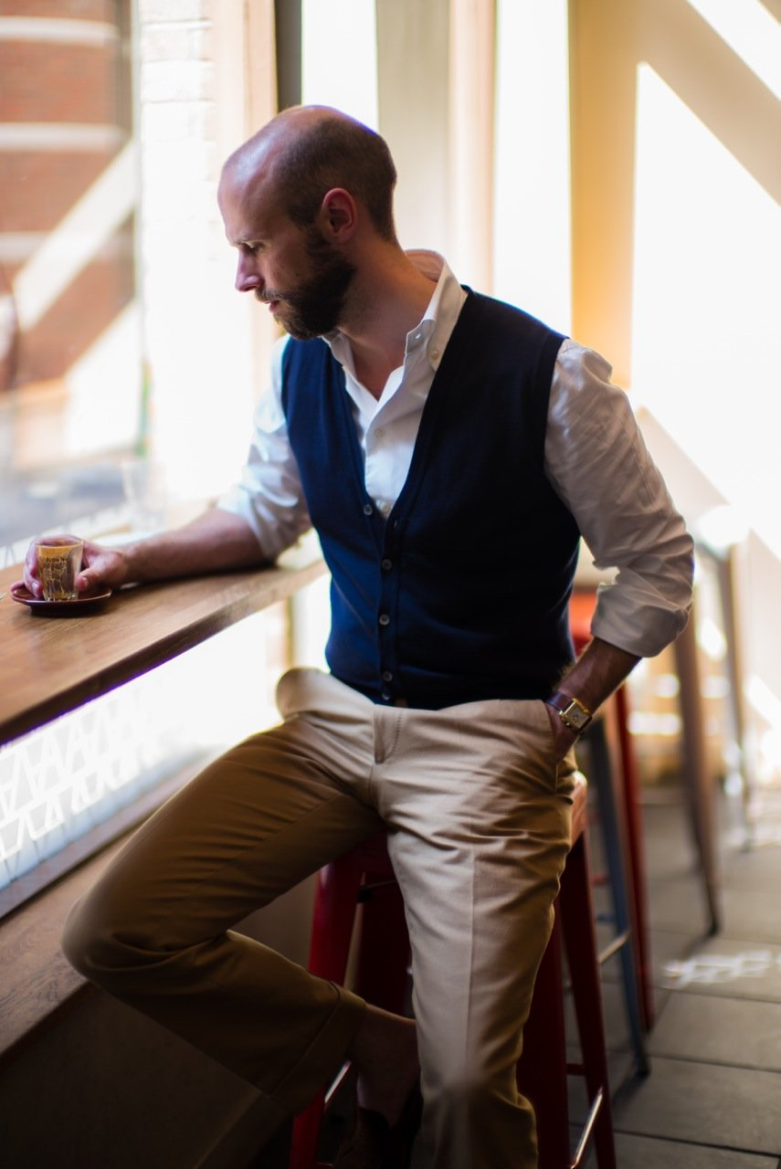 The perfect cardigan – Permanent Style x Smedley