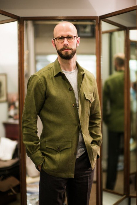 linen safari jacket Budd