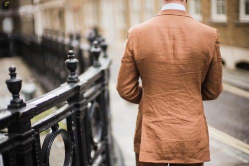 Langa bespoke suit linen back