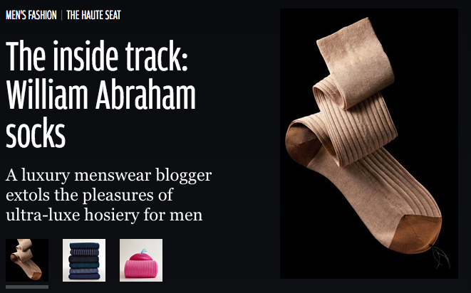 William Abraham socks in HTSI