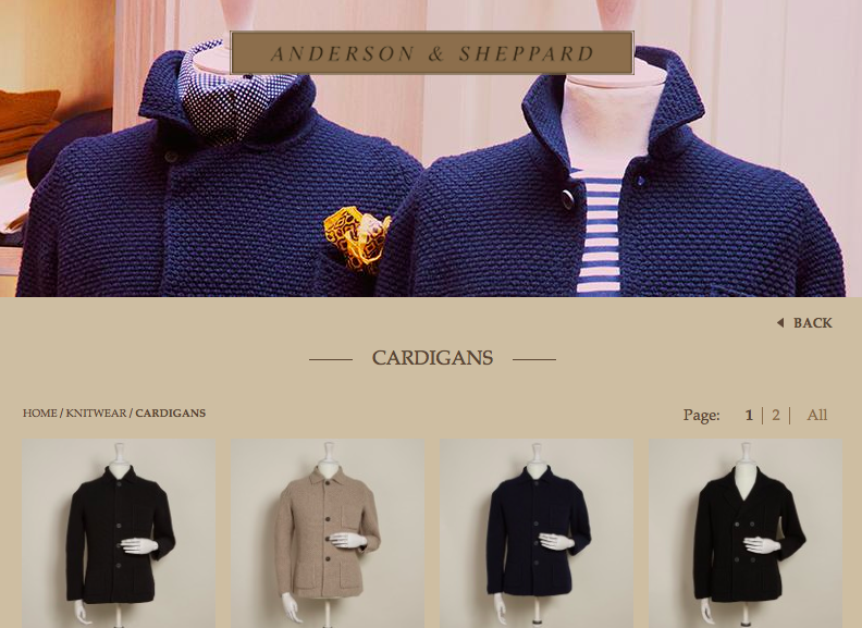 Anderson & Sheppard online store opens