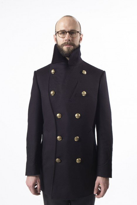 Gieves pea coat bespoke