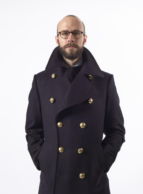 Gieves pea coat front