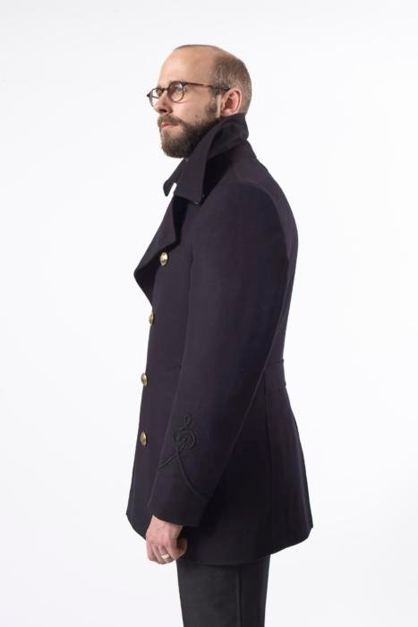 Gieves pea coat side