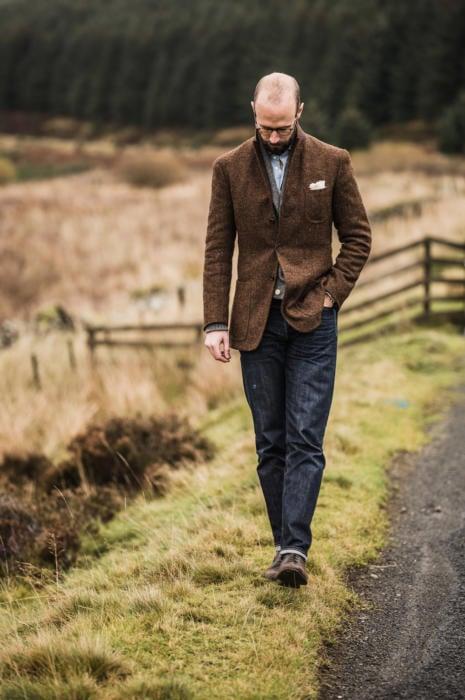 Tweed jacket by the tweed