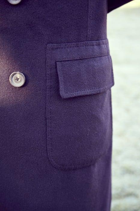 Cifonelli bespoke overcoat cashmere pocket