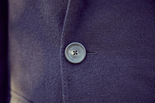 Cifonelli bespoke overcoat horn button