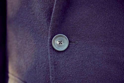 Cifonelli bespoke overcoat horn button