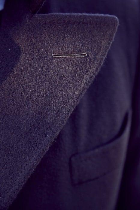 Cifonelli bespoke overcoat milanese buttonhole
