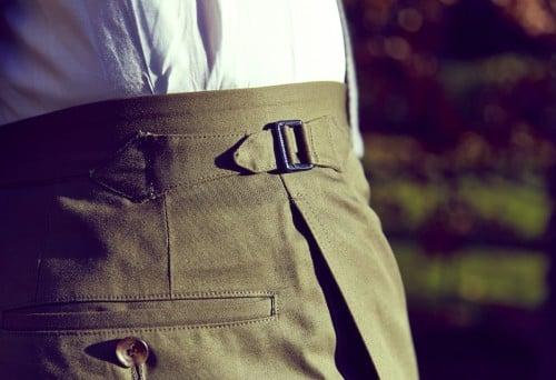 Jose Reillo suit side fastener detail