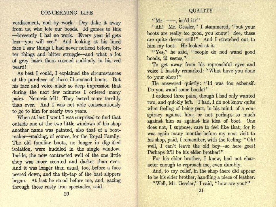 short story quality by john galsworthy See all books authored by john galsworthy the british short story john galsworthy from: quality and others john galsworthy from.