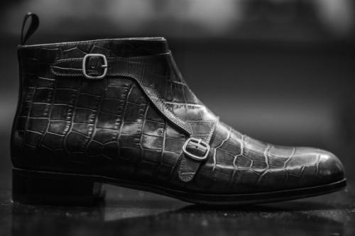Santoni strap boot