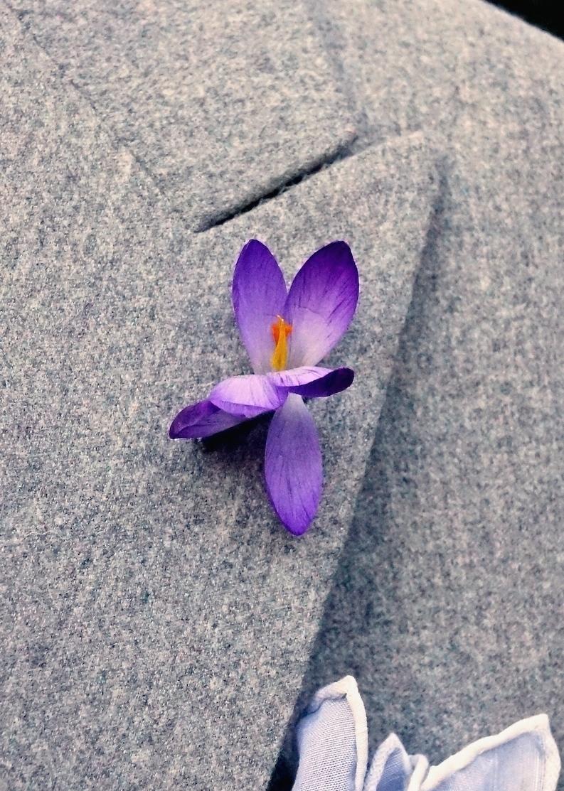 Wear a flower in your buttonhole