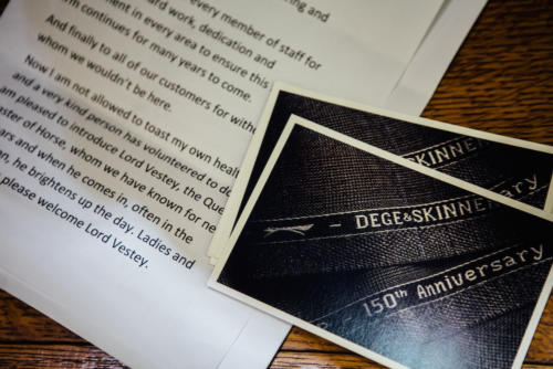 Dege and Skinner Savile Row 150 year anniversary4