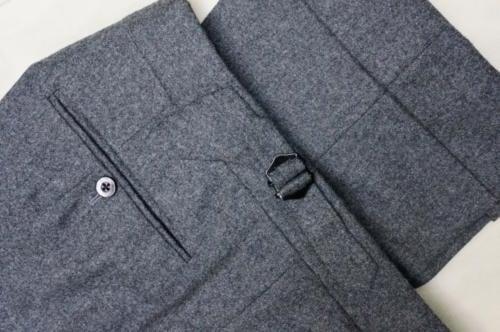 Edward Sexton flannel trousers turn-ups