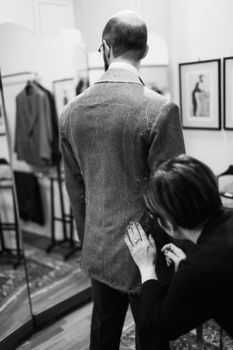 Ferdinano Caraceni jacket fitting
