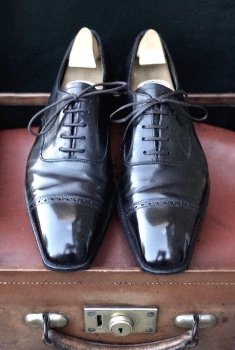 GJ Cleverley bespoke brown oxfords