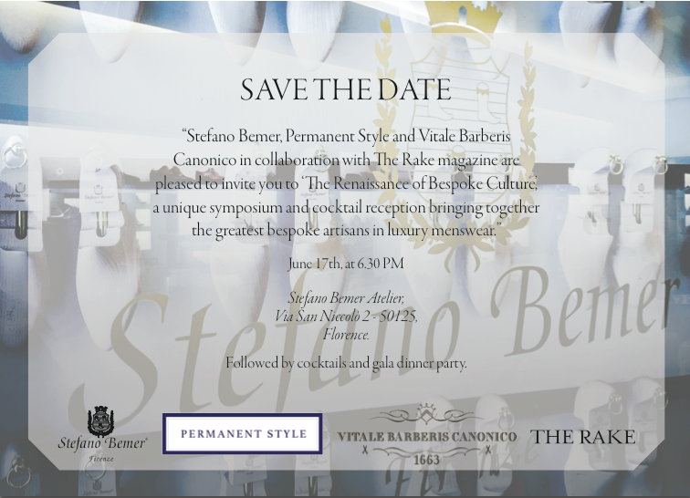 The Tailors Symposium, at Pitti this June
