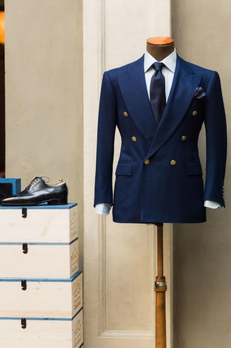 Cifonelli royal blue blazer symposium2
