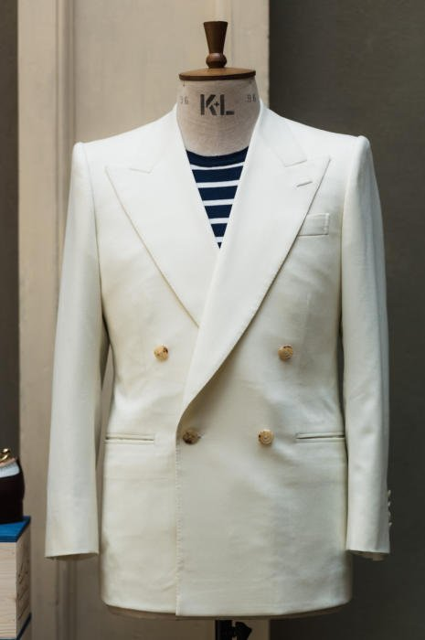 Edward Sexton cream DB jacket Symposium
