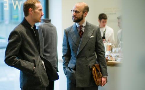 Edward Sexton grey flannel suit bespoke