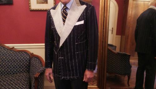 Panico suit making chalkstripe