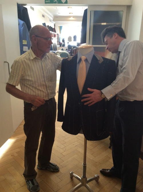 Richard Anderson bespoke suit savile row