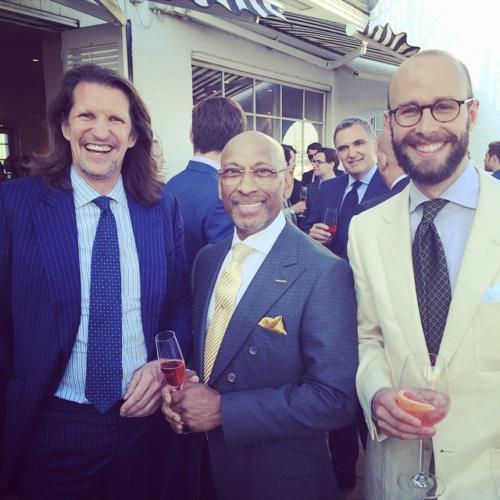 Simon Crompton with Andrew Ramroop and Pierre Legrange