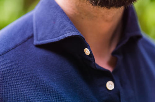 Avitabile Friday polo shirt navy collar