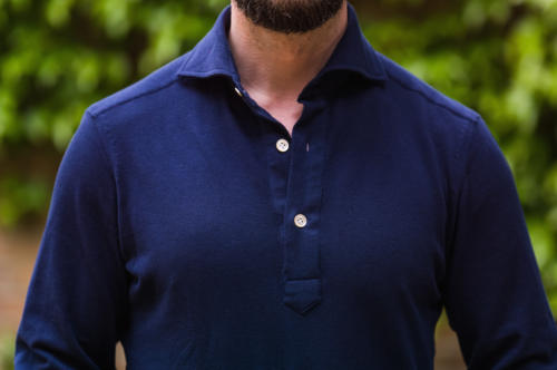 Avitabile Friday polo shirt navy front on