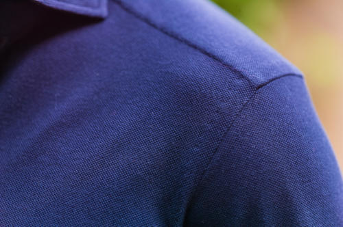 Avitabile Friday polo shirt navy shoulder