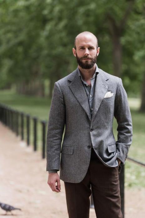Caraceni bespoke cashmere jacket