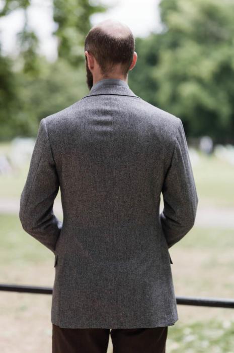 Caraceni bespoke cashmere jacket back