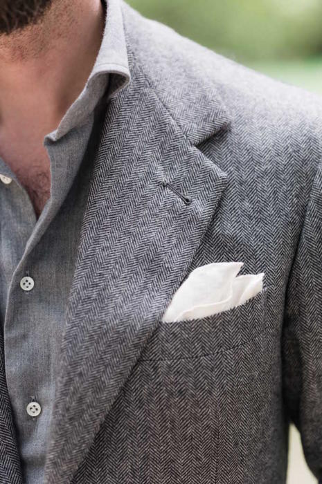 Caraceni bespoke cashmere jacket chest