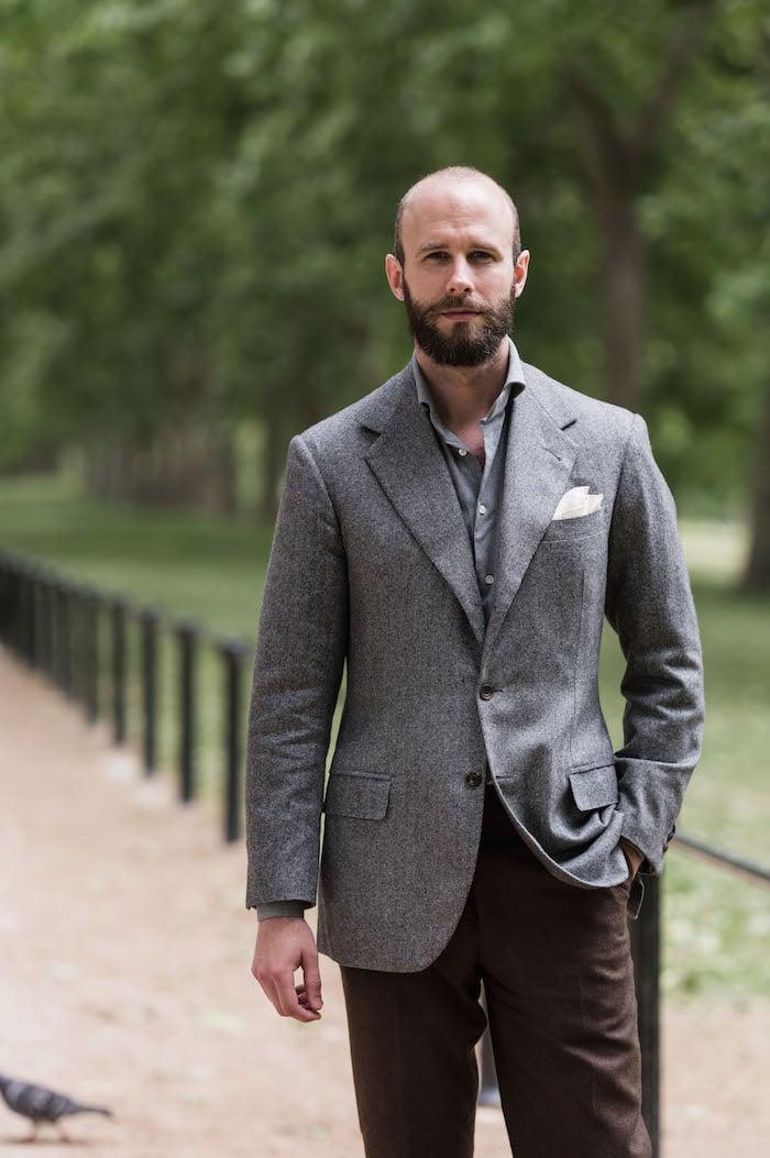 Ferdinando Caraceni bespoke cashmere jacket