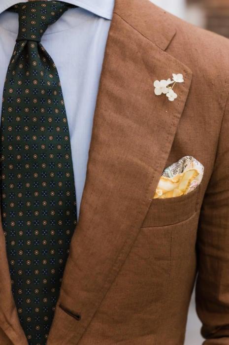 Sastreria Langa suit tobacco linen