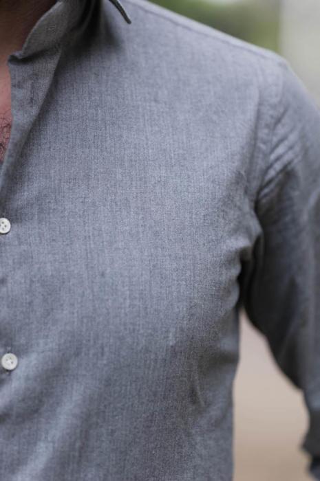 Simone Abbarchi bespoke shirt grey
