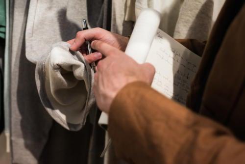 Merz b Schwanen loopwheeler fabric