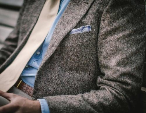 Rubinacci cashmere bespoke jacket and tie