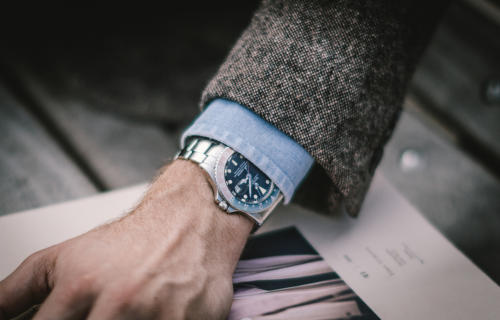 denim shirt with rolex gmt master II