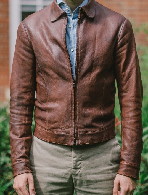 Bespoke leather jacket Davide Taub
